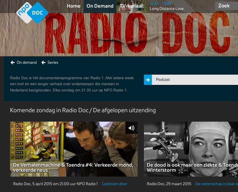 Radio-docu 'De Verhalenmachine'